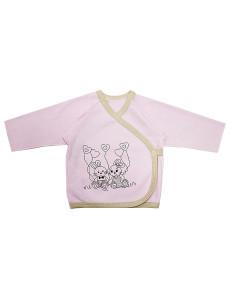 """Распашонка розовая для малышей """"зайки"""""""